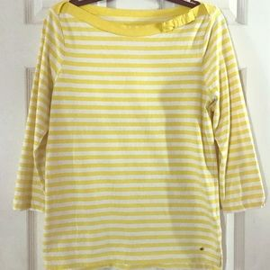 3/4 length striped shirt